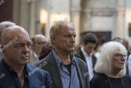 Italian Actor Terence Hill (c) Bud Spencer's Partner in Many Movies Pays His Respects to Italian Actor Carlo Pedersoli Also Known As Bud Spencer at the Chiesa Degli Artisti Chrch in Rome Italy 30 June 2016 Pedersoli Died on 27 June at the Age of 86 Italy Rome