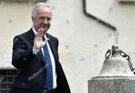 Italian Politician Journalist and Director Walter Veltroni Leaves After the Presentation of the 'David Di Donatello Award 2016' at the Quirinale Palace in Rome Italy 18 April 2016 the David Di Donatello Award is a Film Prize Presented Annually to Honor the Best of Italian and Foreign Motion Picture Productions Italy Rome