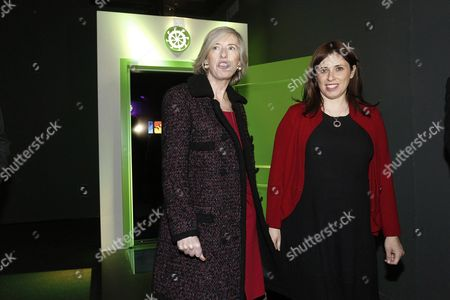 Israeli Foreign Vice Minister Tzipi Hotoveli (r) with Italian Education Minister Stefania Giannini During the Presentation of the Event 'Open- a Door to Israel- Discover/experience/connect' in Rome Italy 21 January 2016 Italy Rome