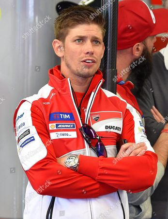 Former Australian Motogp Rider Casey Stoner Watches the Second Training Session of the Motorcycling Grand Prix of Italy at the Mugello Circuit in Scarperia Central Italy 20 May 2016 the Motorcycling Grand Prix of Italy Will Take Place on 22 May 2016 Italy Scarperia