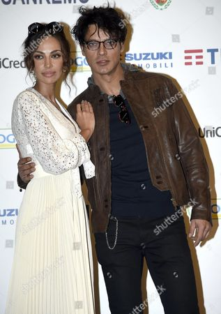 Italian Actor Gabriel Garko (r) and Romanian Actress Madalina Ghenea Pose During a Photocall at the 66th Festival of the Italian Song of San Remo in Sanremo Italy 13 February 2016 the 66th Edition of the Television Song Contest Runs From 09 to 13 February Italy Sanremo