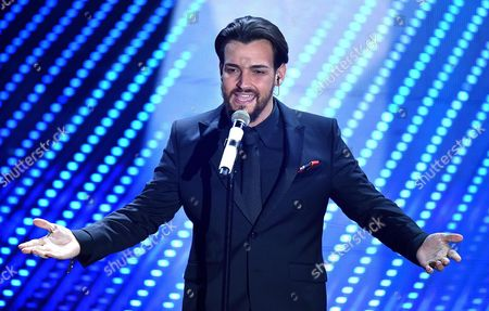A Picture Made Available on 13 February 2016 Shows Italian Singer Valerio Scanu Performing on Stage During the 66th Festival of the Italian Song of San Remo in Sanremo Italy 12 February 2016 the 66th Edition of the Television Song Contest Runs From 09 to 13 February Italy Sanremo