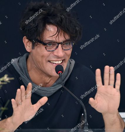 Italian Actor Gabriel Garko Attends a Press Conference During the 66th Festival of the Italian Song of San Remo in Sanremo Italy 13 February 2016 the 66th Edition of the Television Song Contest Runs From 09 to 13 February Italy Sanremo