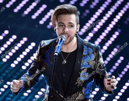 A Picture Made Availabl on 13 February 2016 Shows Italian Singer Alessio Bernabei Performing on Stage During the 66th Festival of the Italian Song of San Remo in Sanremo Italy 12 February 2016 the 66th Edition of the Television Song Contest Runs From 09 to 13 February Italy Sanremo