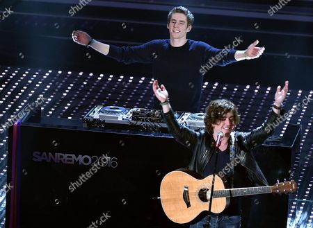 Belgian Dj and Music Producer Lost Frequencies Performs on Stage During the Sanremo Italian Song Festival at the Ariston Theater in Sanremo Italy 12 Februaty 2016 the 66th Festival Della Canzone Italiana Runs From 09 to 13 February Italy Sanremo