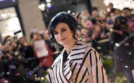 Italian Singer Dolcenera Arrives on the Red Carpet For the 66th San Remo Italian Song Festival Outside the Ariston Theatre in Sanremo Italy 08 February 2016 the Festival Will Run From 09 to 13 February Italy Sanremo