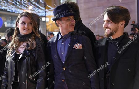 (l-r) Irene Fornaciari Neffa and Valerio Scanu Arrive on the Red Carpet For the 66th San Remo Italian Song Festival Outside the Ariston Theatre in Sanremo Italy 08 February 2016 the Festival Will Run From 09 to 13 February Italy Sanremo