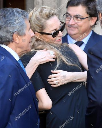 Paola Marzotto (c) Attends the Funeral of Her Mother Marta Marzotto at the Sant'angelochurch in Milan Italy 01 August 2016 Marta Marzotto an Italian Countess and Fashion Designer Died Aged 85 in Milan on 29 July Italy Milan