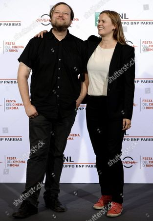 Finnish Film Maker Selma Vilhunen (r) and Finnish Actor Lauri Maijala (l) Pose During the Photocall For the Movie 'Little Wing' at the 11th Annual Rome Film Festival in Rome Italy 17 October 2016 the Festival Runs From 13 to 23 October Italy Rome