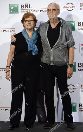 British Filmmaker Mick Jackson (r) and Us Historian and Author Deborah Lipstadt (l) Pose During the Photocall For the Movie 'Denial' at the 11th Annual Rome Film Festival in Rome Italy 17 October 2016 the Festival Runs From 13 to 23 October Italy Rome
