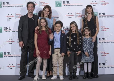 (l-r) Italians Actors/cast Members Francesco Montanari Isabella Ragonese and Eva Grieco Pose During the Photocall For the Movie 'Sole Cuore Amore' at the 11th Annual Rome Film Festival in Rome Italy 15 October 2016 the Festival Runs From 13 to 23 October Italy Rome