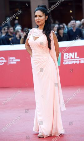 Stock Image of Italian Actress/cast Member Emanuela Garuccio Arrives For the Premiere of 'Ho Amici in Paradiso' at the 11th Annual Rome Film Festival in Rome Italy 18 October 2016 the Festival Running From 13 to 23 October Italy Rome