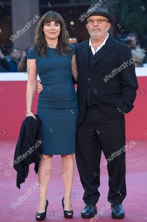 Stock Photo of Us Filmmaker David Mamet (r) and His Wife Us Actress and Singer-songwriter Rebecca Pidgeon Pose on the Red Carpet at the 11th Annual Rome Film Festival in Rome Italy 18 October 2016 the Festival Runs From 13 to 23 October Italy Rome
