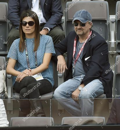Italian Director Giovanni Veronesi (r) with His Wife Italian Actress Valeria Solarino Attend the Final Match Between Serena Williams of the Usa and Her Compatriot Madison Keys During the Italian Open Tennis Tournament at the Foro Italico in Rome Italy 15 May 2016 Italy Rome
