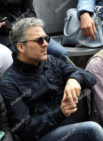 Italian Actor Beppe Fiorello Attends the Final Match Between Serena Williams of the Usa and Her Compatriot Madison Keys During the Italian Open Tennis Tournament at the Foro Italico in Rome Italy 15 May 2016 Italy Rome