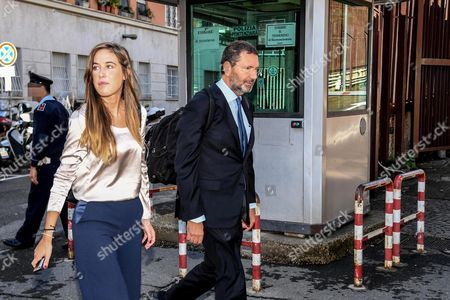 Former Rome Mayor Ignazio Marino (r) Leaves with an Unidentified Person the Tribunal Court in Rome Italy 07 October 2016 Former Rome Mayor Ignazio Marino who Resigned in 2016 Amid an Expenses Scandal was Acquitted on 07 October of Embezzlement and Fraud Prosecutors Had Requested a Prison Sentence of Three Years Four Months Italy Rome