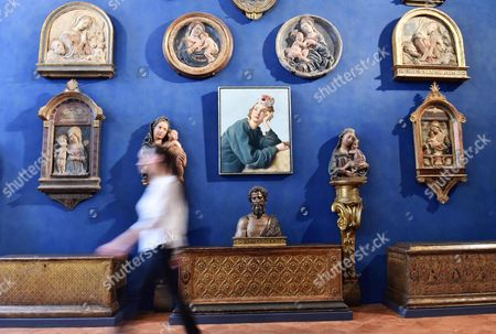 The Painting 'The Penitent' (c) by Us Artist John Currin is on Display During an Exhibition Held at Stefano Bardini Museum in Florence Italy 10 June 2016 the Event Runs From 13 June to 02 October Italy Florence