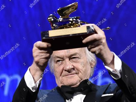 Polish Film Director Jerzy Skolimowski Poses with the Golden Lion For Lifetime Achievement Award During the 73rd Annual Venice International Film Festival in Venice Italy 31 August 2016 the Festival Runs From 31 August to 10 September Italy Venice