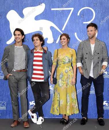(l-r) Us Actor Joseph Haro Italian Actor Brando Pacitto Italian Actress Matilda Lutz and Us Actor Taylor Frey Pose During a Photocall For 'L'estate Addosso' (summertime) at the 73rd Venice Film Festival in Venice Italy 01 September 2016 the Movie is Presented in the 'Cinema Giardino' Section at the Festival Running From 31 August to 10 September Italy Venice
