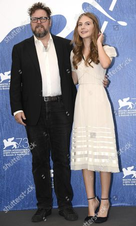 British Actress Emilia Jones (r) and Dutch Film Director and Screenwriter Martin Koolhoven (l) Pose During a Photocall For 'Brimstone' at the 73rd Annual Venice International Film Festival in Venice Italy 03 September 2016 the Festival Runs From 31 August to 10 September Italy Venice