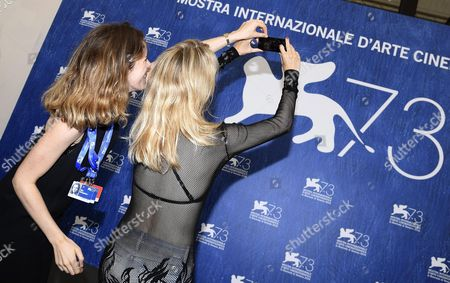 Belgian Director Fien Troch (r) Takes a Photo During a Photocall For 'Home' at the 73rd Annual Venice International Film Festival in Venice Italy 03 September 2016 the Festival Runs From 31 August to 10 September Italy Venice