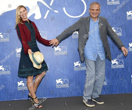 Italian Actor Vittorio Viviani (r) and Italian Actress Milena Mancini (l) Pose During a Photocall For 'Il Piu' Grande Sogno' at the 73rd Annual Venice International Film Festival in Venice Italy 04 September 2016 the Festival Runs From 31 August to 10 September Italy Venice