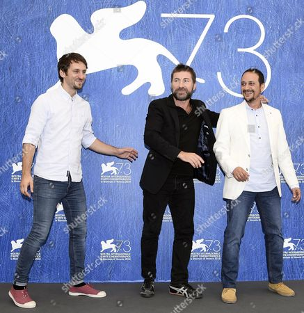 (l-r) Spanish Director Raul Arevalo Spanish Actors Antonio De La Torre and Luis Callejo Pose During a Photocall For 'Tarde Para La Ira' (the Fury of a Patient Man) at the 73rd Annual Venice International Film Festival in Venice Italy 02 September 2016 the Festival Runs From 31 August to 10 September Italy Venice