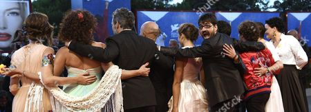 Italian Director Roan Johnson (5-r) Arrives with Cast Members For the Premiere of 'Piuma' at the 73rd Annual Venice International Film Festival in Venice Italy 05 September 2016 the Festival Runs From 31 August to 10 September Italy Venice