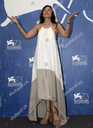 Argentine Actress Andrea Frigerio Poses During a Photocall For 'El Ciudadano Ilustre' (the Distinduished Citizen) at the 73rd Annual Venice International Film Festival in Venice Italy 04 September 2016 the Festival Runs From 31 August to 10 September Italy Venice