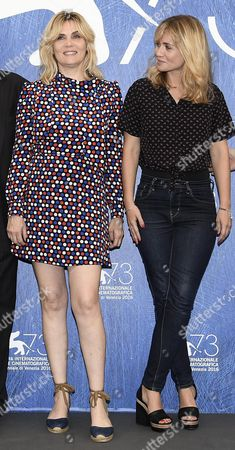 French Actress Emmanuelle Seigner (l) and French Film Director and Screenwriter Katell Quillevere (r) Pose During the Photocall For 'Reparer Les Vivants' at the 73rd Annual Venice International Film Festival in Venice Italy 04 September 2016 the Festival Runs From 31 August to 10 September Italy Venice