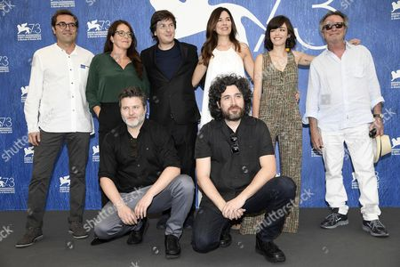 Argentinean Directors Mariano Cohn (r-down) and Gaston Duprat (l-down) Pose with Cast Members During a Photocall For 'El Ciudadano Ilustre' (the Distinguished Citizen) at the 73rd Annual Venice International Film Festival in Venice Italy 04 September 2016 the Festival Runs From 31 August to 10 September Italy Venice