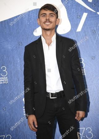 Turkish Actor Berke Karaer Poses During a Photocall For 'Koca Dunya' (big Big World) at the 73rd Annual Venice International Film Festival in Venice Italy 08 September 2016 the Festival Runs From 31 August to 10 September Italy Venice