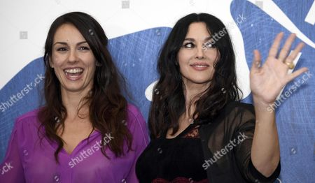 Serbian Actress Sloboda Micalovic (l) and Italian Actress Monica Bellucci (r)pose During a Photocall For 'Na Mlijecnom Putu' (on the Milky Road) During the 73rd Venice Film Festival in Venice Italy 09 September 2016 the Festival Runs From 31 August to 10 September Italy Venice