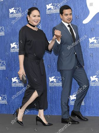 Stock Picture of Filipino Actors Charo Santos-concio (l) and John Lloyd Cruz (r) Pose During a Photocall For 'Ang Babaeng Humayo' (the Woman who Left) at the 73rd Annual Venice International Film Festival in Venice Italy 09 September 2016 the Festival Runs From 31 August to 10 September Italy Venice
