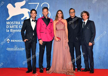 (l-r) Actors/cast Members Joseph Haro Taylor Frey Matilda Lutz Director Gabriele Muccino and Brando Pacitto Arrive For the Premiere of 'L'estate Addosso' During the 73rd Annual Venice International Film Festival in Venice Italy 01 September 2016 the Festival Runs From 31 August to 10 September Italy Venice