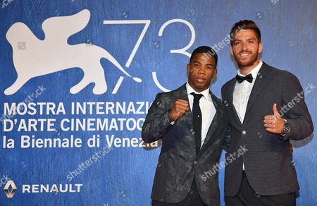 Italian Athletes Frank Chamizo and Marco Di Costanzo (l) Arrive For the Premiere of 'L'estate Addosso' During the 73rd Annual Venice International Film Festival in Venice Italy 01 September 2016 the Festival Runs From 31 August to 10 September Italy Venice