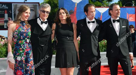 (l-r) Wim Wenders' Wife Donata Wenders German Director Wim Wenders Actors Sophie Semin Reda Kateb and Jens Harzer Arrive For the Premiere of 'Les Beaux Jours D'aranjuez' at the 73rd Annual Venice International Film Festival in Venice Italy 01 September 2016 the Movie is Presented in the Official Competition 'Venezia 73' at the Festival Running From 31 August to 10 September Italy Venice