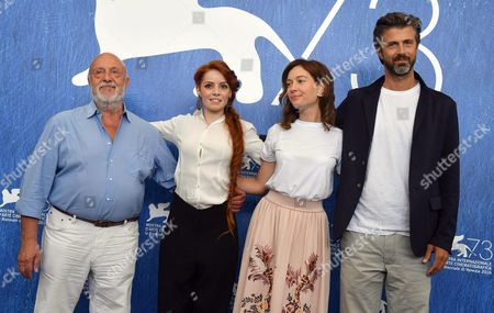 Stock Picture of (l-r) Italian Actors Renato Scarpa Camilla Diana Cristiana Capotondi Italian Director and Actor Kim Rossi Stuart Pose During a Photocall For 'Tommaso' at the 73rd Annual Venice International Film Festival in Venice Italy 06 September 2016 the Movie is Presented out of Competition at the Festival Running From 31 August to 10 September Italy Venice