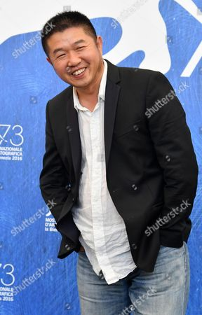 Chinese Director Wang Bing Poses During a Photocall For 'Ku Qian' (bitter Money) at the 73rd Annual Venice International Film Festival in Venice Italy 09 September 2016 the Festival Runs From 31 August to 10 September Italy Venice