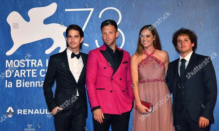 Stock Picture of (l-r) Actors/cast Members Joseph Haro Taylor Frey Matilda Lutz and Brando Pacitto Arrive For the Premiere of 'L'estate Addosso' During the 73rd Annual Venice International Film Festival in Venice Italy 01 September 2016 the Festival Runs From 31 August to 10 September Italy Venice