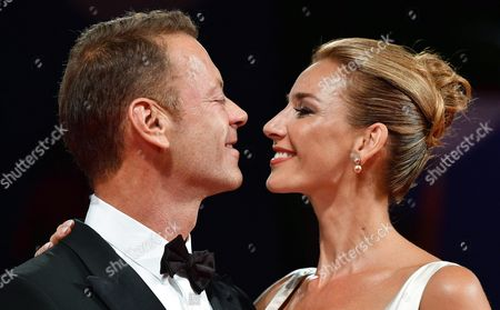 Stock Image of Italian Actor Rocco Siffredi (l) and His Wife Rozsa Tassi (rosa Tassi) Arrive For the Premiere of 'Rocco' at the 73rd Annual Venice International Film Festival in Venice Italy 05 September 2016 the Festival Runs From 31 August to 10 September Italy Venice