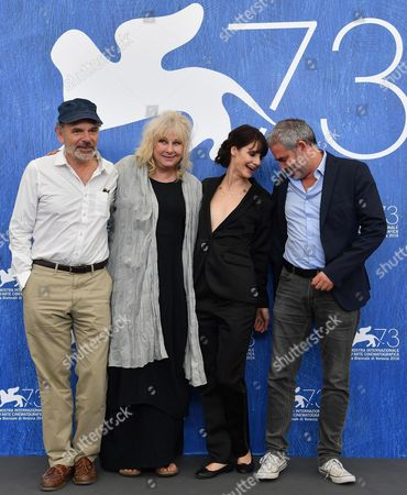 (l-r) French Actors Jean-pierre Darroussin Yolande Moreau Judith Chemla and French Director Stephane Brize' Pose During a Photocall For 'Une Vie' at the 73rd Annual Venice International Film Festival in Venice Italy 06 September 2016 the Movie is Presented in the Official Competition 'Venezia 73' at the Festival Running From 31 August to 10 September Italy Venice