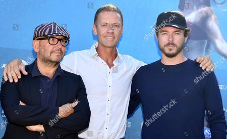 Stock Photo of Italian Actor Rocco Siffredi (c) and French Directors Thierry Demaiziere (l) and Alban Teurlai (r) Pose During a Photocall For 'Rocco' at the 73rd Annual Venice International Film Festival in Venice Italy 05 September 2016 the Documentary Film is Presented in the 'Venice Days - Special Events' Section at the Festival Running From 31 August to 10 September Italy Venice