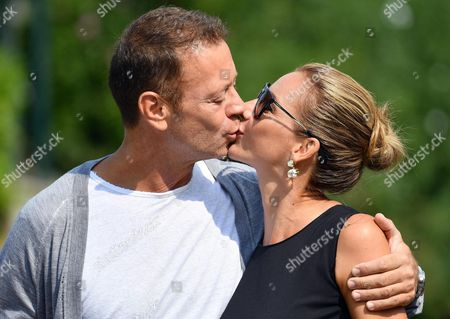 Stock Photo of Italian Actor Rocco Siffredi (l) and His Wife Rozsa Tassi (rosa Tassi) Arrive at the Lido Beach at the 73rd Annual Venice International Film Festival in Venice Italy 07 September 2016 the Festival Runs From 31 August to 10 September Italy Venice