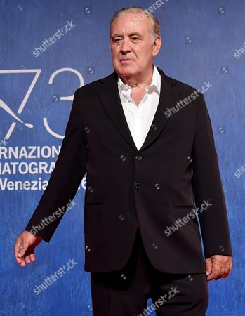 Italian Director and Journalist Michele Santoro Arrives For the Premiere of 'Robinu' at the 73rd Annual Venice International Film Festival in Venice Italy 07 September 2016 the Festival Runs From 31 August to 10 September Italy Venice