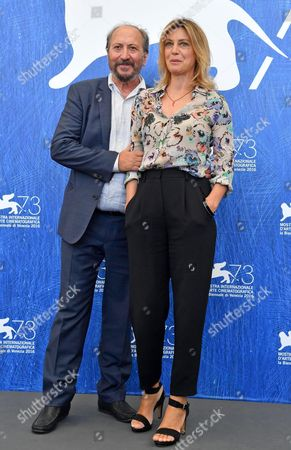 Italian Director Giuseppe Piccioni (l) and Italian Actress Margherita Buy Pose During a Photocall For 'Questi Giorni' at the 73rd Annual Venice International Film Festival in Venice Italy 08 September 2016 the Festival Runs From 31 August to 10 September Italy Venice
