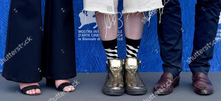 Australian Actress Mitzi Ruhlmann (l) Australian Director Nicholas Verso (c) and Australian Actor Toby Wallace (r) Pose During a Photocall For 'Boys in the Trees' at the 73rd Annual Venice International Film Festival in Venice Italy 09 September 2016 the Festival Runs From 31 August to 10 September Italy Venice