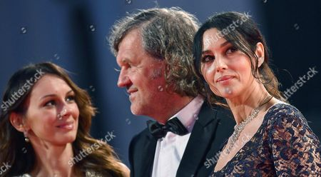 Stock Image of From (l-r) Serbian Actress Sloboda Micalovic Bosnian Film Maker Emir Kusturica and Italian Actress Monica Bellucci Arrive For the Premiere of 'Na Mlijecnom Putu' (on the Milky Road) at the 73rd Venice Film Festival in Venice Italy 09 September 2016 the Festival Runs From 31 August to 10 September Italy Venice