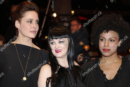 Stock Image of (L-R) German actress Susanne Wolff, Irish actress Bronagh Gallagher and Isi Laborde-Edozien arrive for the premiere of 'Return to Montauk' during the 67th annual Berlin Film Festival, in Berlin, Germany, 15 February 2017. The movie is presented in the Official Competition at the Berlinale that runs from 09 to 19 February.