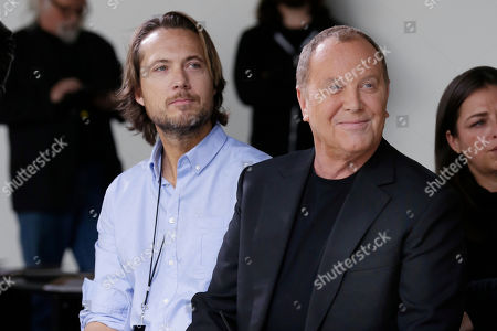 Michael Kors and Lance LePere in the front row